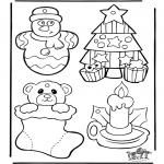 Coloriages Noël - Décoration - Noël 1