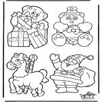 Coloriages Noël - Décoration - Noël 2