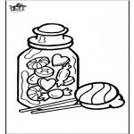 Bricolage coloriages - Décoration sur verre - Bonbon