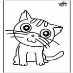 Bricolage coloriages - Décoration sur verre - chat
