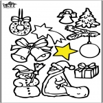 Coloriages Noël -  Décorations de Noël 4