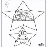 Coloriages Noël - Décorations de Noël - Bible 1