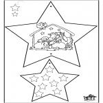 Coloriages Noël - Décorations de Noël - Bible 4
