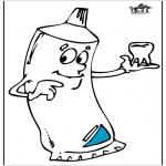 Coloriages faits divers - Dentifrice