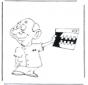 Dentiste avec radiographie