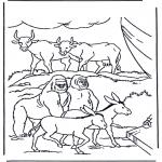 Coloriages Bible - Des animaux dans l'arche