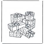 Coloriage thème - Des cadeaux