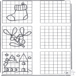Coloriages Noël - Dessin à copier Noël 1