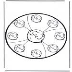 Bricolage cartes de piquer - Dessin à piquer 10