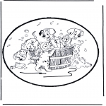 Bricolage cartes de piquer - Dessin à piquer -  101 Dalmatiens 1