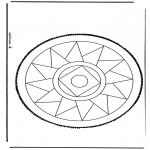 Bricolage cartes de piquer - Dessin à piquer 13