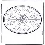 Bricolage cartes de piquer - Dessin à piquer 19