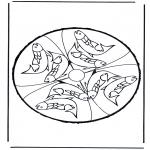 Bricolage cartes de piquer - Dessin à piquer 24