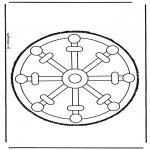 Bricolage cartes de piquer - Dessin à piquer 29