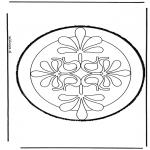 Bricolage cartes de piquer - Dessin à piquer 33