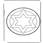 Bricolage cartes de piquer - Dessin à piquer 43