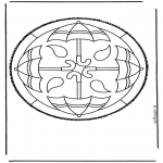Bricolage cartes de piquer - Dessin à piquer 44