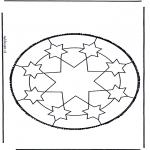Bricolage cartes de piquer - Dessin à piquer 46