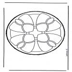 Bricolage cartes de piquer - Dessin à piquer 6