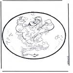 Bricolage cartes de piquer - Dessin à piquer - Aladdin 1