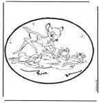 Bricolage cartes de piquer - Dessin à piquer - Bambi 1