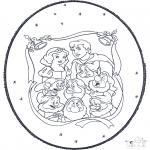 Bricolage cartes de piquer - Dessin à piquer - Blanche-Neige