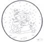 Dessin à piquer - bonhomme de neige