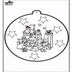 Coloriages Noël - Dessin à piquer - cadeau de Noël 1