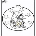 Coloriages Noël - Dessin à piquer - cadeau de Noël 2