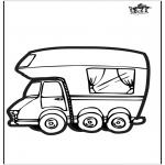 Bricolage cartes de piquer - Dessin à piquer - Camping-car