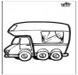 Dessin à piquer - Camping-car