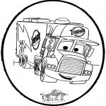 Bricolage cartes de piquer - Dessin à piquer - Cars