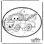 Bricolage cartes de piquer - Dessin à piquer Cars
