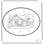 Bricolage cartes de piquer - Dessin à piquer - crèche de Noël