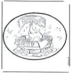 Bricolage cartes de piquer - Dessin à piquer - Dumbo