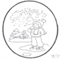 Dessin à piquer - hiver 1