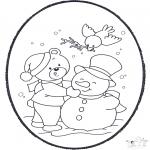 Bricolage cartes de piquer - Dessin à piquer - hiver 2