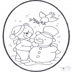 Coloriages hiver - Dessin à piquer - hiver 2