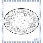 Bricolage cartes de piquer - Dessin à piquer - hiver 5