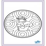 Bricolage cartes de piquer - Dessin à piquer - hiver 6