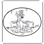 Bricolage cartes de piquer - Dessin à piquer - La Belle et le Clochard 1