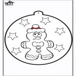 Coloriages Noël - Dessin à piquer - Licitar 1