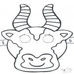 Bricolage cartes de piquer - Dessin à piquer - masque 1