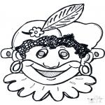 Bricolage cartes de piquer - Dessin à piquer - masque 10
