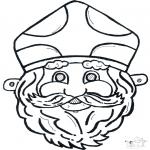 Bricolage cartes de piquer - Dessin à piquer - masque 11