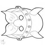 Bricolage cartes de piquer - Dessin à piquer - masque 12