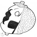 Bricolage cartes de piquer - Dessin à piquer - masque 13