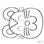 Bricolage cartes de piquer - Dessin à piquer - masque 2