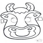 Bricolage cartes de piquer - Dessin à piquer - masque 6