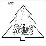 Coloriages Noël - Dessin à piquer - Noël 2